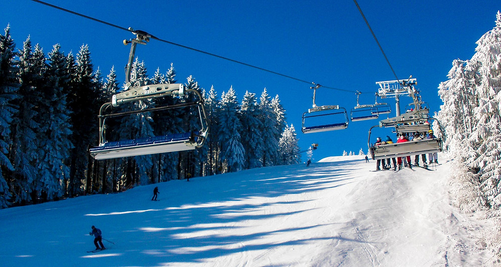 Skiliftkarussell Winterberg sneeuwcondities