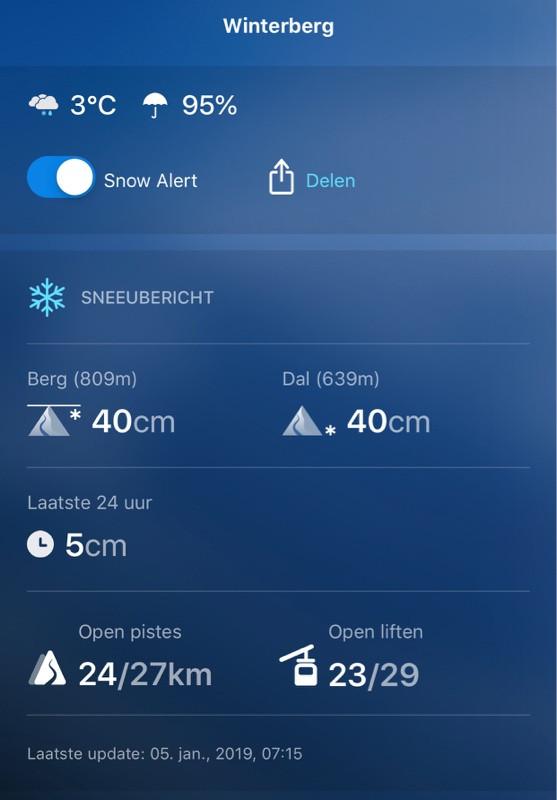 Sneeuwcondities 5-1-2019 Winterberg