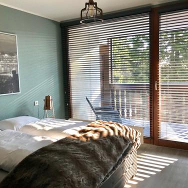 's morgens wakker worden met de zon in Kappeberg Lodge