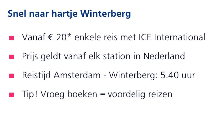 Trein naar Winterberg info 2019