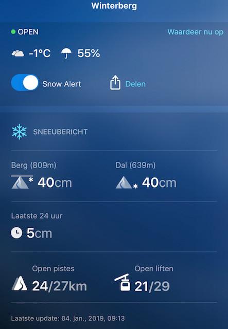 Sneeuwcondities 4-1-2019 Winterberg