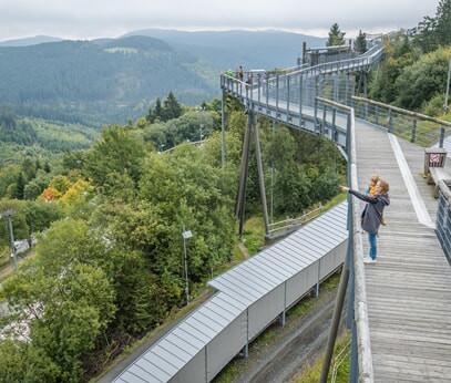 Panoramabrug in Winterberg: fantastisch uitzicht