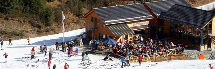 Quick's skihut bij de QuickJet skilift