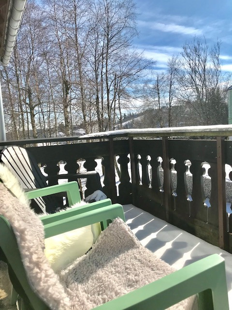 Poppenberg Lodge heeft een breed terras gelegen op de zon. Heerlijk in de winter en in de zomer.