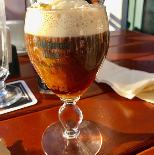 Irish coffee bij Blackwater Irish Pub