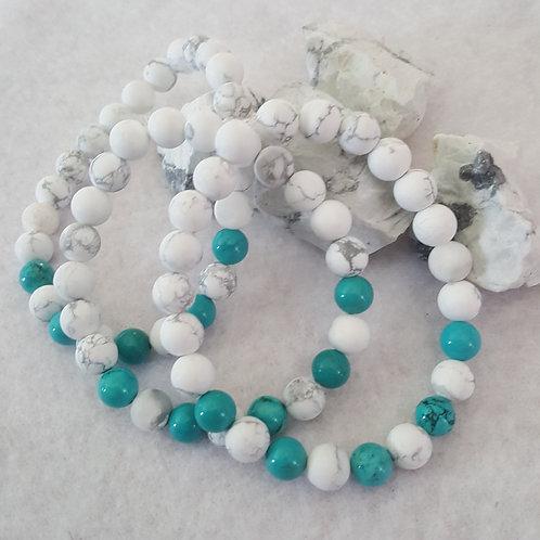 Howlite & Turquoise Bracelet
