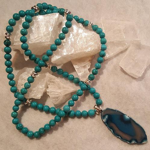 Turquoise & Agate Neckklace