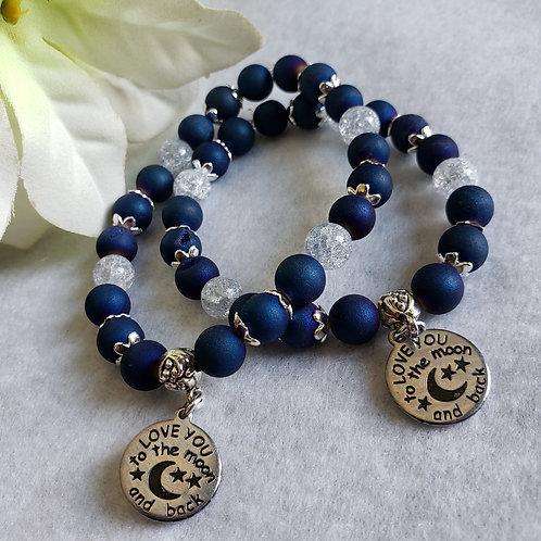 Agate & Quartz Bracelet Love You To The Moon