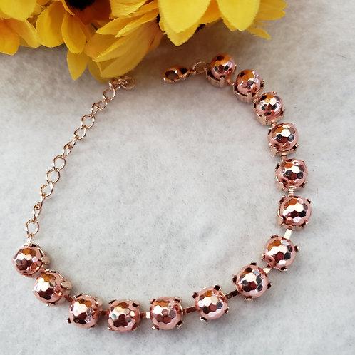 Faceted Rose Gold Hematite Bracelet