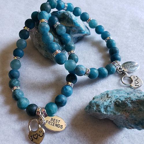Blue Apatite Friendship Bracelet