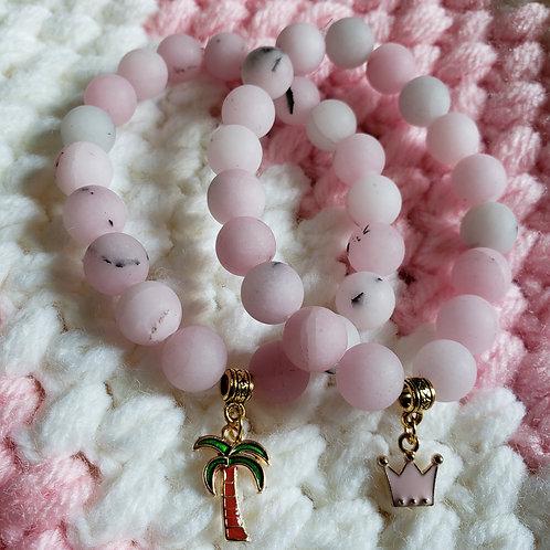 Blossom Jasper Charm Bracelet