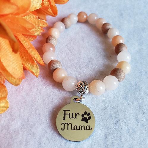 Peach Aventurine Fur Mama Bracelet