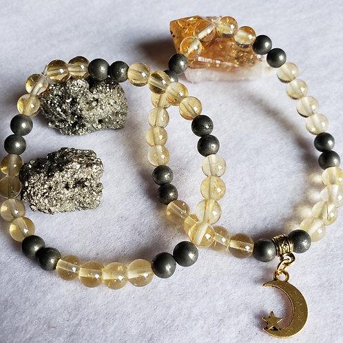 Citrine & Pyrite Bracelet