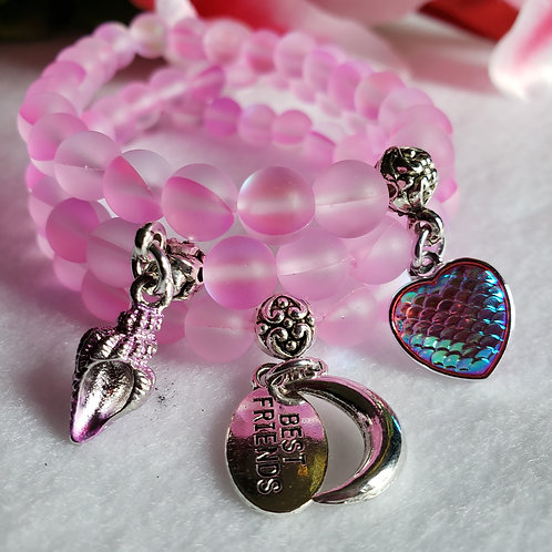 Pink Mermaid Quartz Bracelet