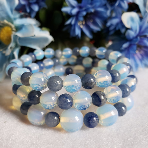 Opalite & Blue Quartz Bracelet