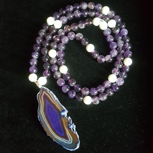 Amethyst & Purple Agate Necklace