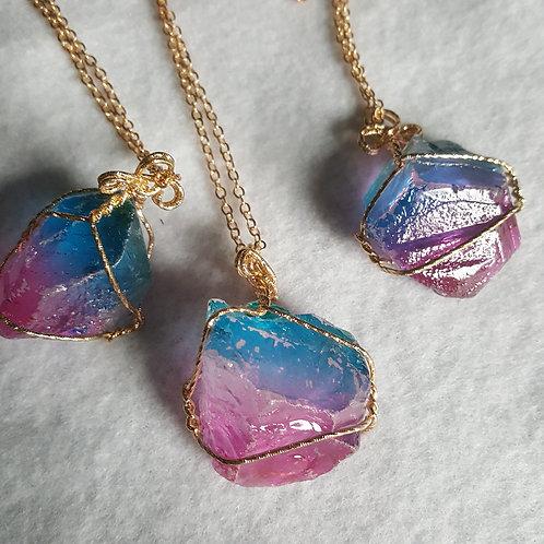 Rainbow Quartz Necklace - Large Size
