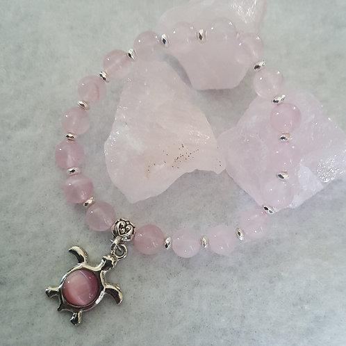 Rose Quartz Turtle Bracelet