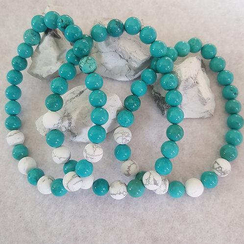 Turquoise & Howlite Bracelet