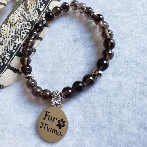 Smoky Quartz Fur Mama Bracelet