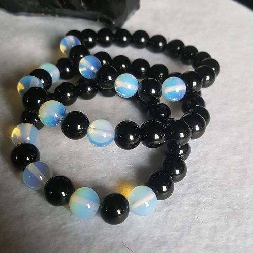 Opalite & Onyx Bracelet