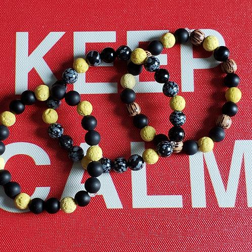 Black & Yellow Aromatherapy Bracelet