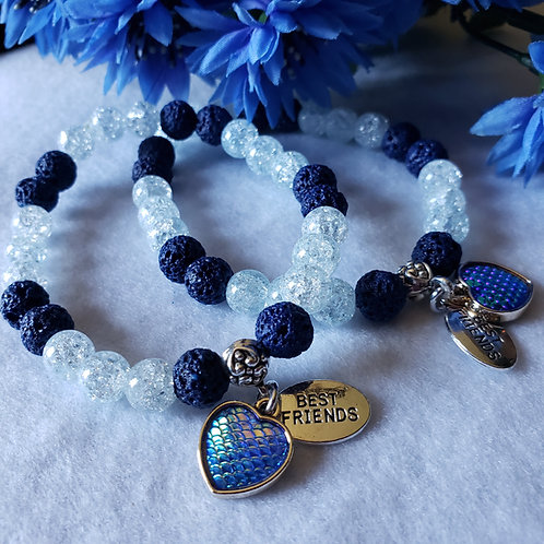 Crackle Quartz Aromatherapy Bracelet Sets
