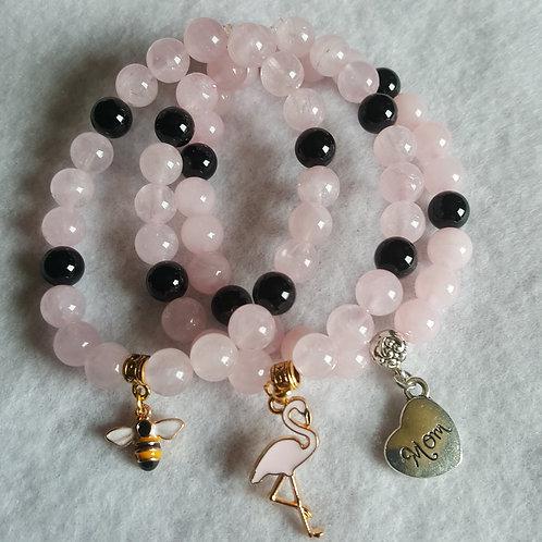 Rose Quartz Bracelets - Mother's Day