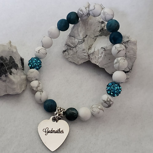 Howlite & Apatite Godmother Bracelet