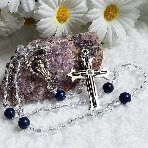 Quartz & Lapis Rosary