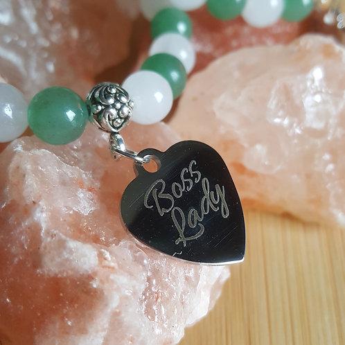 Aventurine & White Jade Bracelet