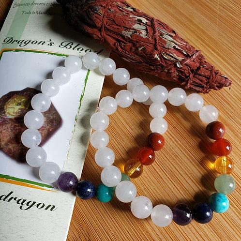 White Jade Chakra Bracelet