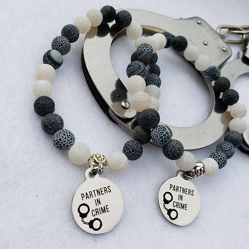 Weathered Agate Bracelet Set - Partners In Crime