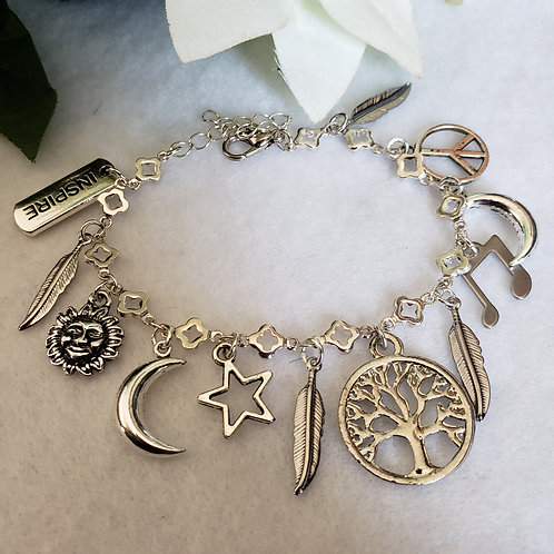 Stainless Steel Charm Bracelet (A)