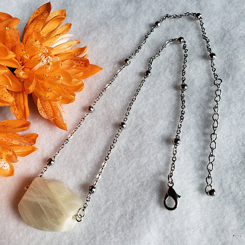 Raw Moonstone Necklace