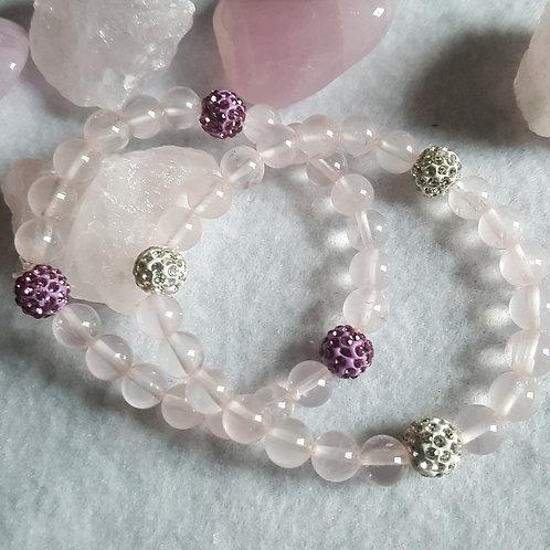 Rose Quartz Disco Ball Bracelet