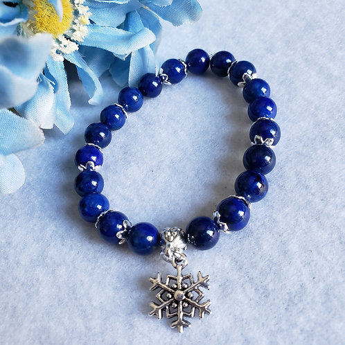 Lapis Lazuli Snowflake Bracelet