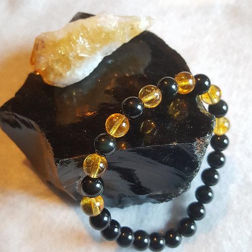 Obsidian & Citrine Bracelet