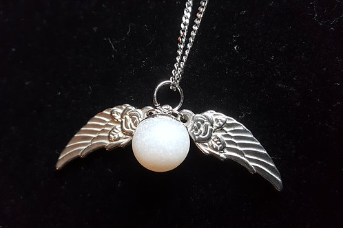Angel Wings Quartz Druzy Necklace