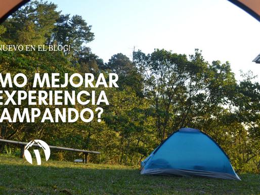 ¿Cómo mejorar tu experiencia acampando?