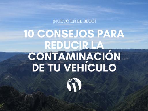 10 consejos para reducir la contaminación de tu vehículo