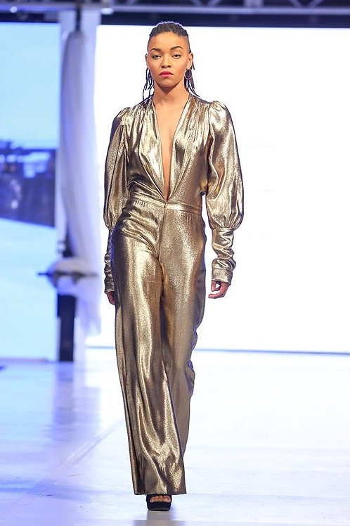 Camryn Gold Jumpsuit