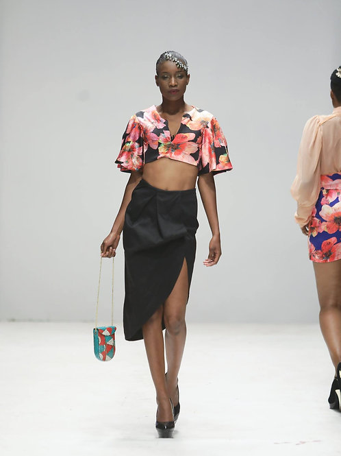 Draped Skirt and Crop top