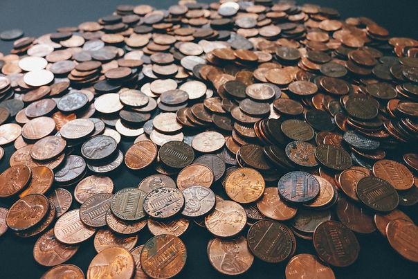 Pennies on Desktop