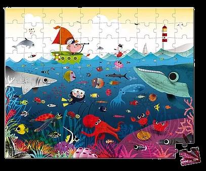 פאזל 100 חלקים עולם הים
