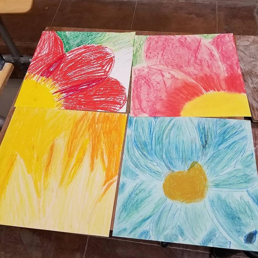 Kid's Art History Camp, Day1: Georgia O'Keefe
