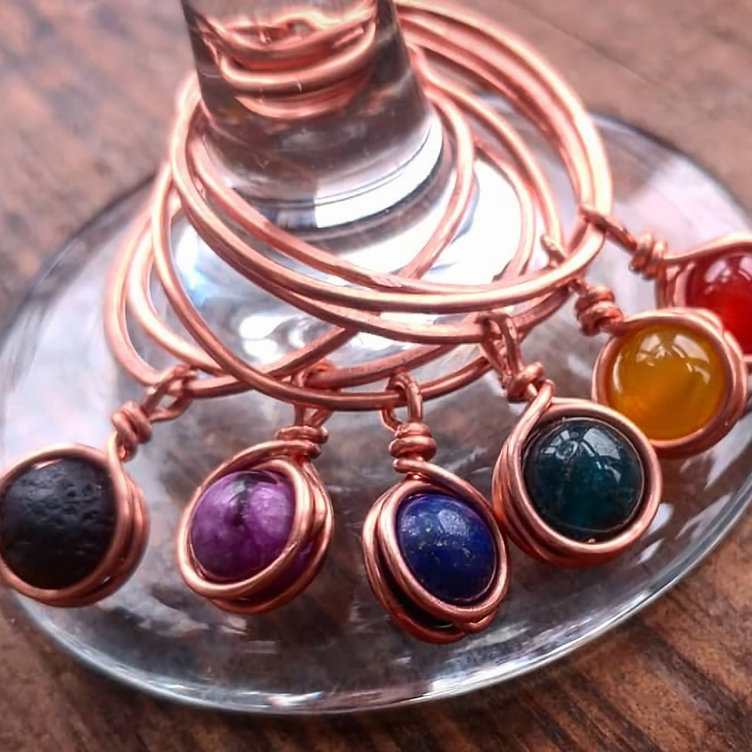 WIRE N WINE- Wine Glass Charms