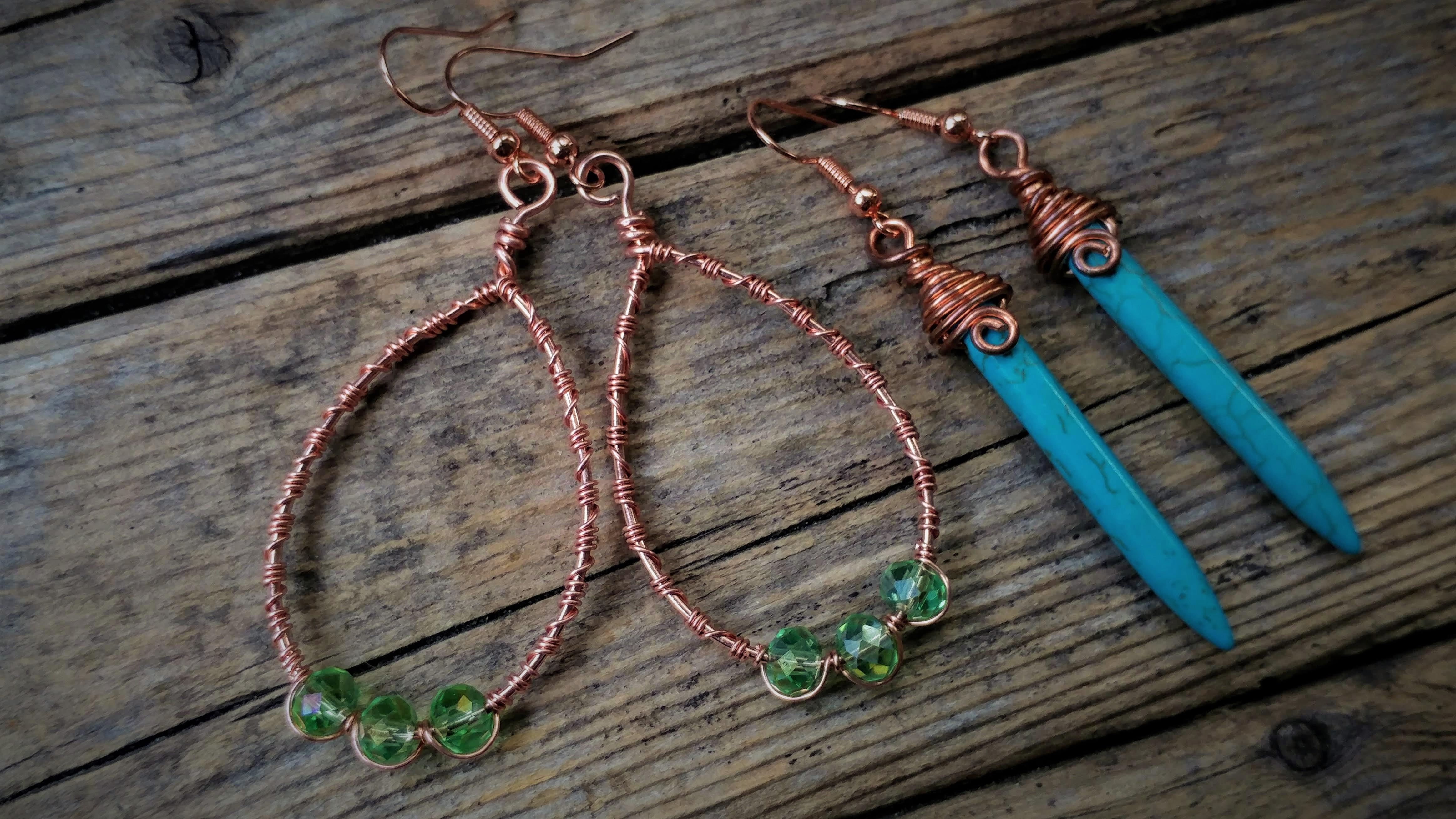 Wire N Wine 2 Earring Design