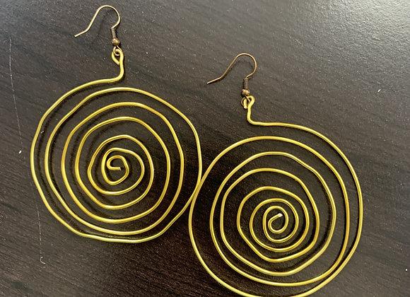 Sun - Round Wire Earrings