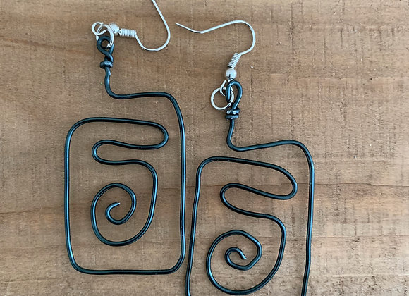 Tulip - Square Wire Earring